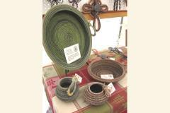 Rope items such as baskets, platters, mirrors etc.